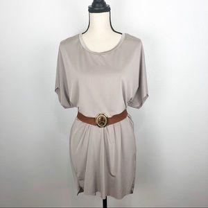 ZARA metallic tunic blouse/dress